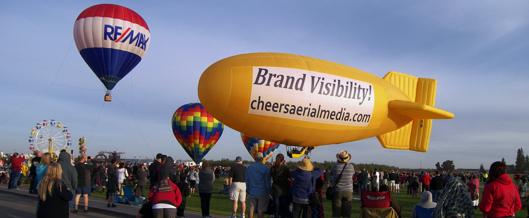 Amelia Airship with RE/MAX Balloon - Cheers Over California